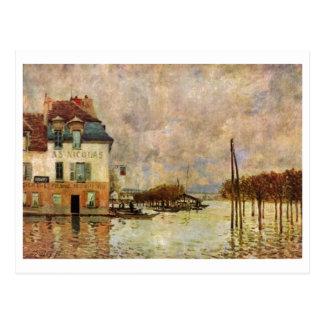 Alfred Sisley - Überschwemmung von Puerto-Margoso  Postales