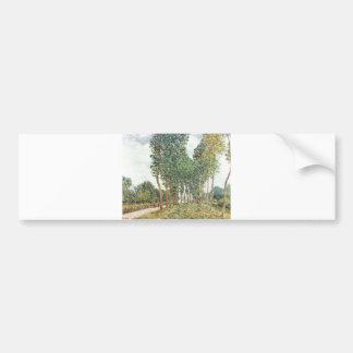 Alfred Sisley - Ufer der Loing bei Moret 1892 Bumper Sticker