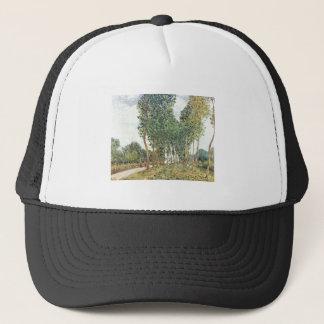 Alfred Sisley - Ufer der Loing bei Moret 1892 Trucker Hat