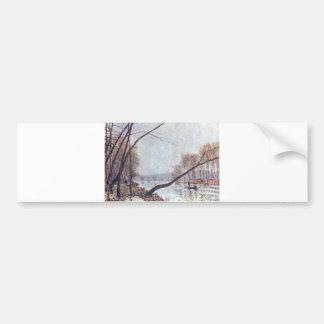Alfred Sisley - Ufer der Seine im Herbst 1879 oil Bumper Sticker