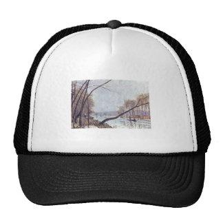 Alfred Sisley - Ufer der Seine im Herbst 1879 oil Trucker Hat