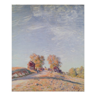 Alfred Sisley | Uphill Road in Sunshine Poster