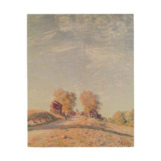 Alfred Sisley | Uphill Road in Sunshine Wood Wall Decor