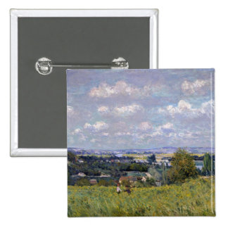 Alfred Sisley | Valley of the Seine at St-Cloud Pinback Button