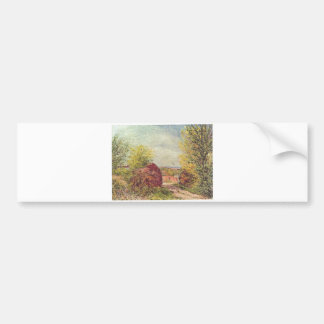 Alfred Sisley - Veneux-Nadon im Frühling 1885 Bumper Sticker