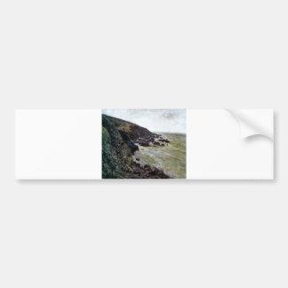 Alfred Sisley - Ventania 1897 Oil Beach Sea Rock Bumper Sticker