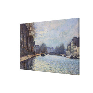 Alfred Sisley | View of the Canal St-Martin, Paris Canvas Print