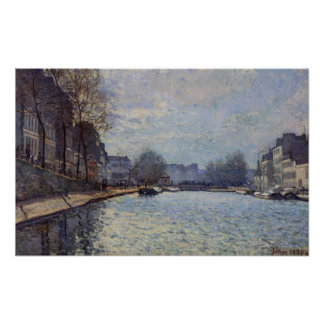 Alfred Sisley | View of the Canal St-Martin, Paris Poster
