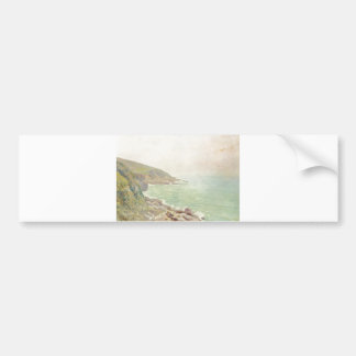Alfred Sisley - Waliser Küste im Nebel 1887 - Oil Bumper Sticker