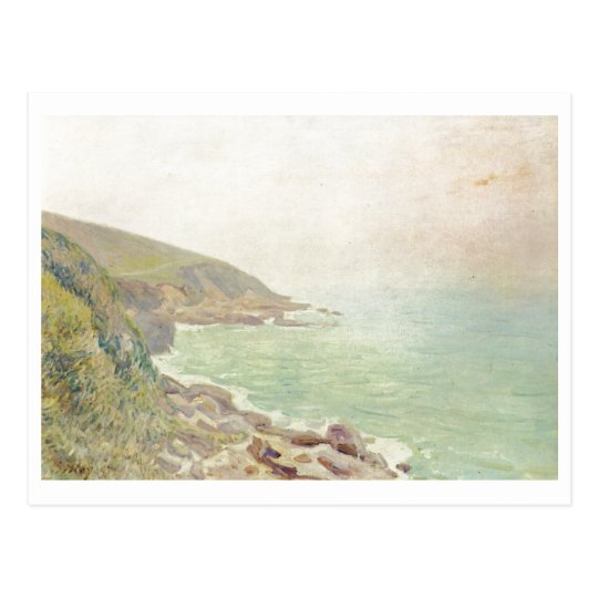 Alfred Sisley - Waliser Küste im Nebel 1887 - Oil Postcard