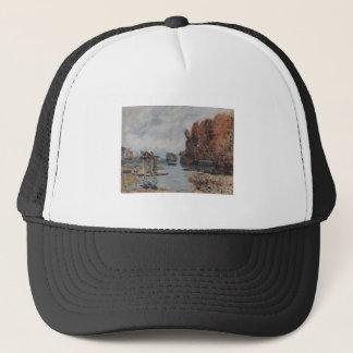 Alfred Sisley Wäscherinnen von Bougival 1875 Oil Trucker Hat