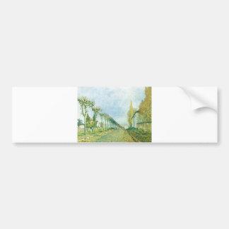 Alfred Sisley - Weg der Maschine 1973 Oil Canvas Bumper Sticker