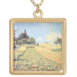 Alfred Sisley | Wheat Field Gold Plated Necklace