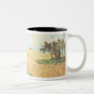 Alfred Sisley | Wheat Field Two-Tone Coffee Mug