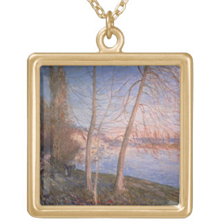 Alfred Sisley | Winter Morning Gold Plated Necklace