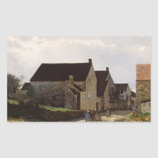 Alfred Sisley - Women Going to the Woods Rectangular Sticker