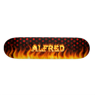 Alfred skateboard fire and flames design.