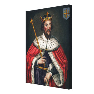 Alfred the Great (849-99), after a painting in the Canvas Print
