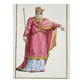 Alfred the Great (849-99) from 'Receuil des Estamp Postcard