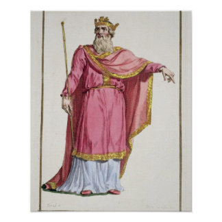 Alfred the Great (849-99) from 'Receuil des Estamp Poster
