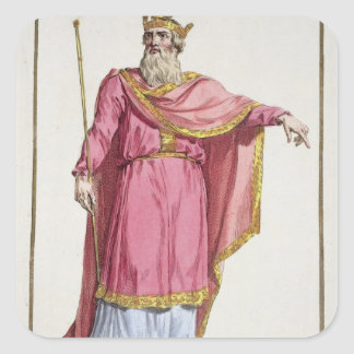 Alfred the Great (849-99) from 'Receuil des Estamp Square Sticker