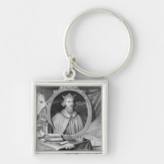 Alfred the Great (849-99) King of Wessex, engraved Keychain