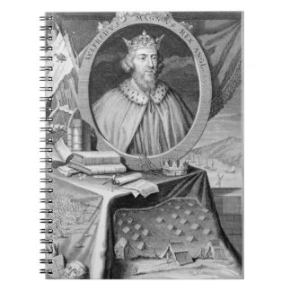 Alfred the Great (849-99) King of Wessex, engraved Notebook