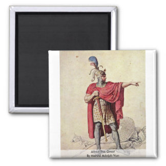 Alfred The Great By Menzel Adolph Von Fridge Magnet