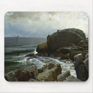 Alfred Thompson Bricher - Castle Rock, Marblehead Mouse Pad