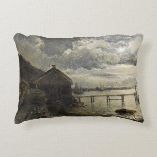 Alfred Wahlberg - Moonlight, Fjallbacka Decorative Pillow
