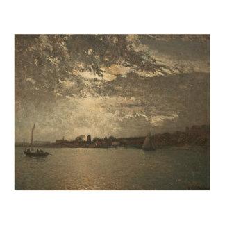 Alfred Wahlberg - Moonlight Mood, The Stockholm Wood Print