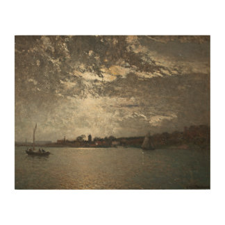 Alfred Wahlberg - Moonlight Mood, The Stockholm Wood Wall Art