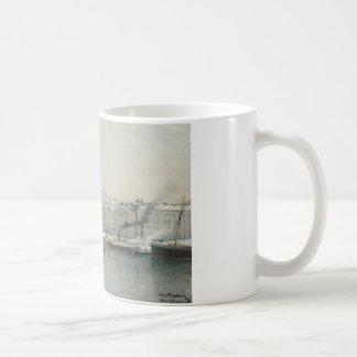 Alfred Wahlberg - Winter Landscape Over Skeppsbron Coffee Mug