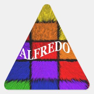 ALFREDO (nombres masculinos) Pegatina Triangular