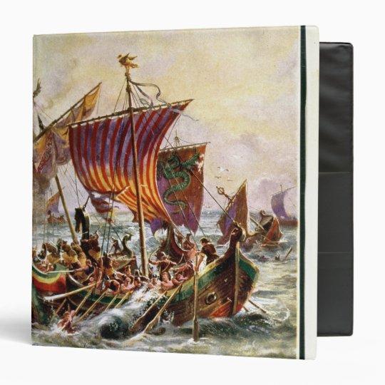 Alfred's galleys attacking the Viking Dragon 3 Ring Binder