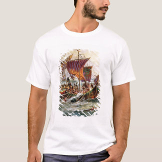 Alfred's galleys attacking the Viking Dragon T-Shirt