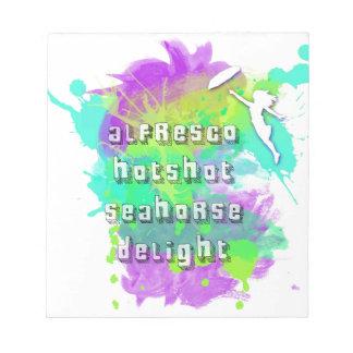 Alfresco Hotshot Seahorse Delight Note Pads