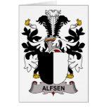 Alfsen Family Crest Card