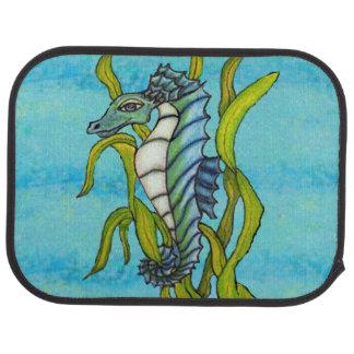 Alga marina azul del Seahorse del dragón del mar Alfombrilla De Coche