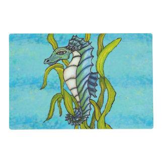 Alga marina azul del Seahorse del dragón del mar Salvamanteles