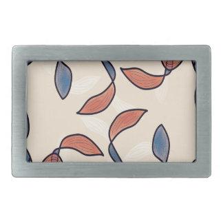 Alga marina del vintage blue&red hebillas cinturon rectangulares
