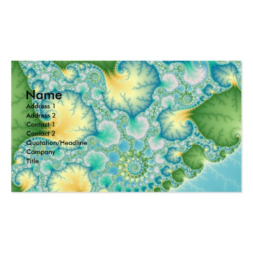 Algae - Fractal Double-Sided Standard Business Cards (Pack Of 100)