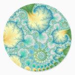 Algae - Fractal Classic Round Sticker