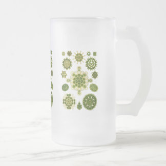 Algae Frosted Glass Beer Mug