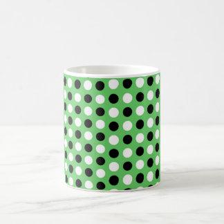 Algae Green Polka Dots Coffee Mug