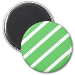 Algae Green Stripes Refrigerator Magnets
