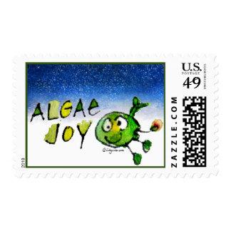 Algae Joy Christmas Whale Postage