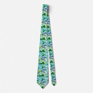 Algae Seaweed Ocean Sea Blue Green Water Nautical Neck Tie