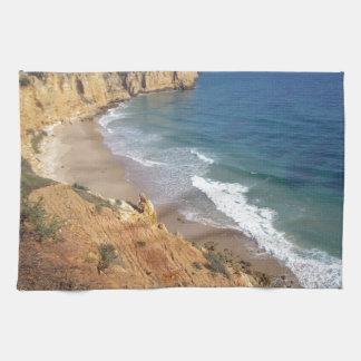 algarve coast hand towel