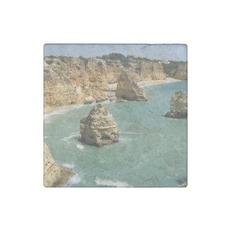 Algarve, Portugal, Benagil beach and rocks Stone Magnet